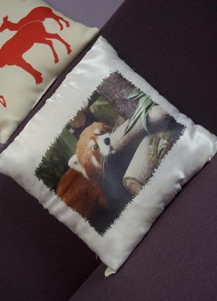 Стильна подушка з тваринним світом, природнича подушка