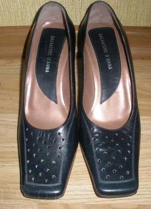 Туфли женские на каблуке натуральная кожа