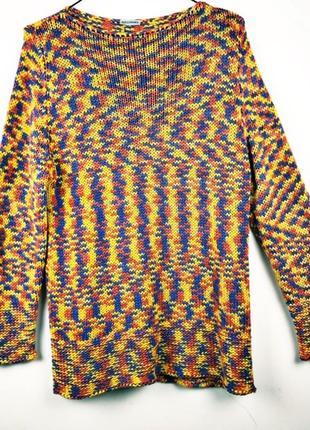 Уютный объемный пестрый свитер bellisima