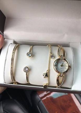 Набор часы/браслеты в подарочной коробке