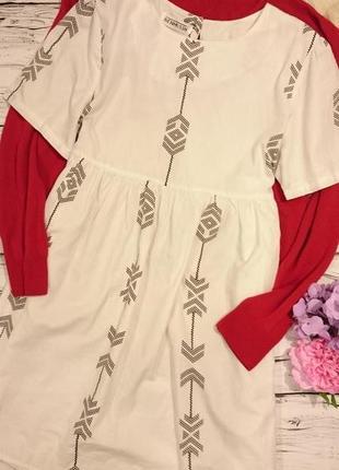 Красивое платье с рисунком под вышивку 12-14