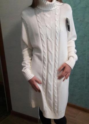 Крутое вязаное платье esmara