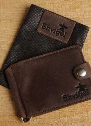 Зажим для купюр shvigel 13786 коричневый