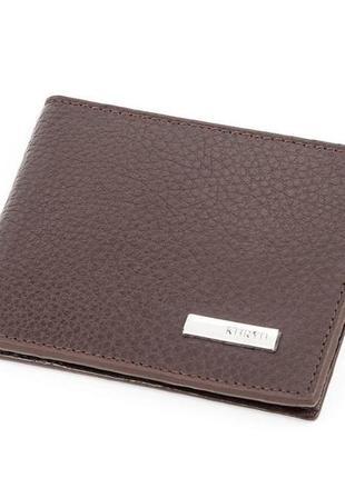 Зажим мужской karya 17091 кожаный коричневый