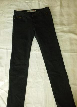 1+1=3 черные серые джинсы теплые на флисе dsl jeans company