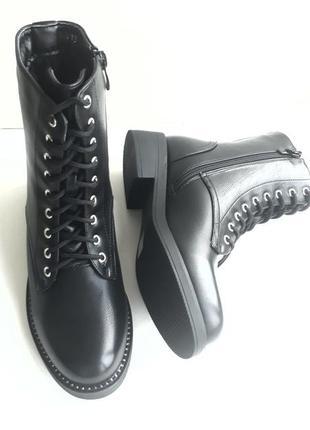 Акція! жіночі зимові напівчобітки (полусапожки, ботинки) розмір 36, 37.4