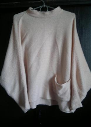 Вязаный свитерок под горло разлетайка