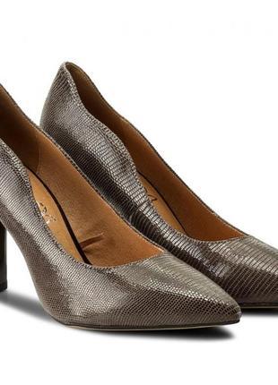 Туфли из натуральной кожи немецкого бренда caprice бежево-коричневые, р. 37, 38. 5, 39