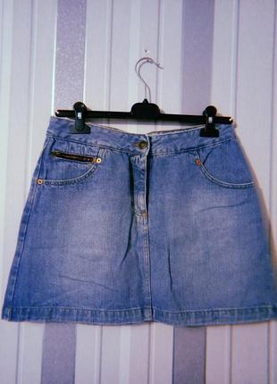 Джинсовая юбка юбочка трапеция