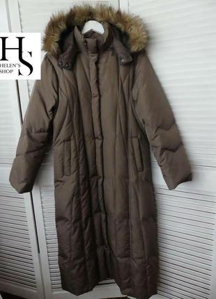 Теплейший пуховик,пальто пуховое yours ( l указан,можно и на меньше см.замеры)