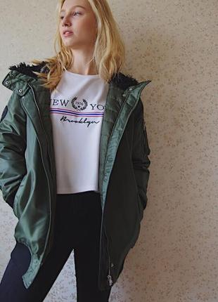 Курточка бомбер с мехом3