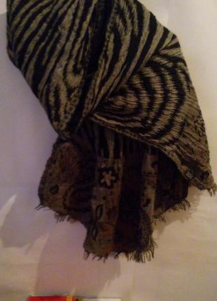 100% шерсть шарф - палантин (индия)