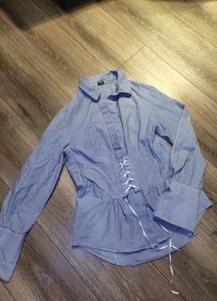 Шикарная рубашка, блуза с корсетной шнуровкой