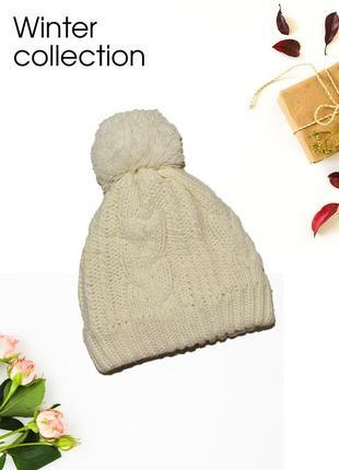 Теплая шапка с подкладкой winter collection