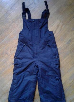 Зимний полукомбинезон, штаны теплые c&a. размер 92-98см waterproof