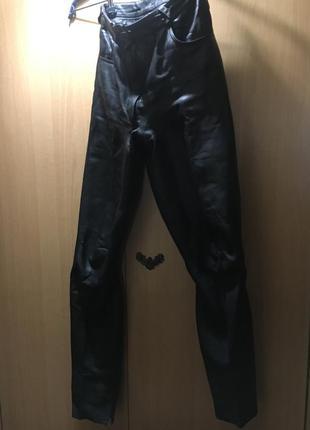 Брюки штаны натуральная кожа, черные xs, кожаные