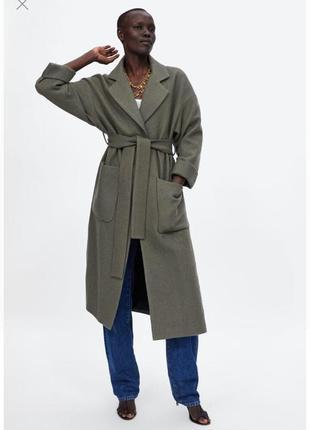 Zara пальто 100% шерсть