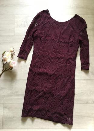 Красивое ажурное кружевное платье