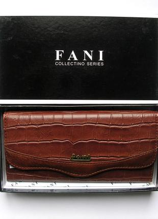 Кожаный кошелек крокодил fani, 100% натуральная кожа, есть доставка бесплатно