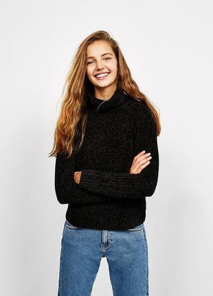 Велюровый свитер bershka