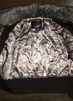 Меховая куртка-шубка, натуральный мех кролика, шуба зимняя теплая, курточка авто-леди3
