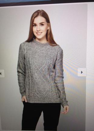 Шикарный свитер шерсть мохер с биркой