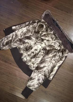 Меховая куртка-шубка, натуральный мех кролика, шуба зимняя теплая, курточка авто-леди4
