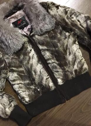 Меховая куртка-шубка, натуральный мех кролика, шуба зимняя теплая, курточка авто-леди5