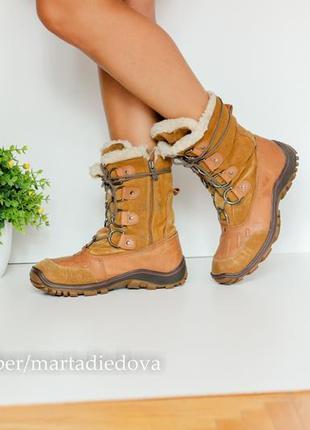 Зимние кожаные ботинки полусапожки сапоги, натуральная кожа,бренд pajar оригинал