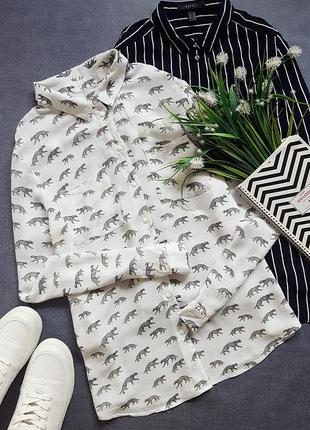 Блуза в леопарды zara
