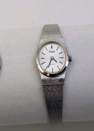 Часы женские pulsar, кварц, япония, нержавейка.