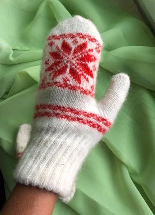 Варежки шерстяные женские / рукавиці жіночі теплі