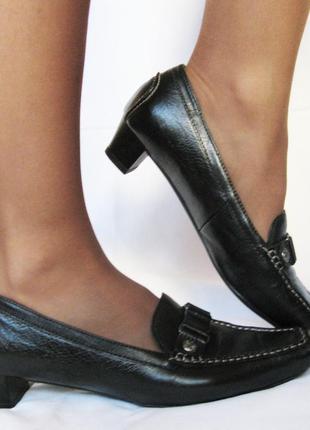 730. туфли-мокасины hogl австрия кожа - 40 р.