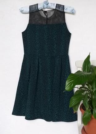 Стильное платье леопард со вставками из сетки от miss e-vie