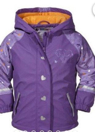 Lupilu курточка - дождевик 1-2 года. фиолетового цвета