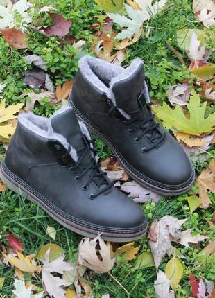 Мужские зимние ботинки alexandro натуральная кожа мех 40-45р