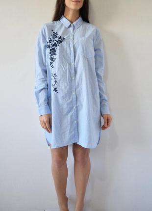 Платье-рубашка с вышивкой primark