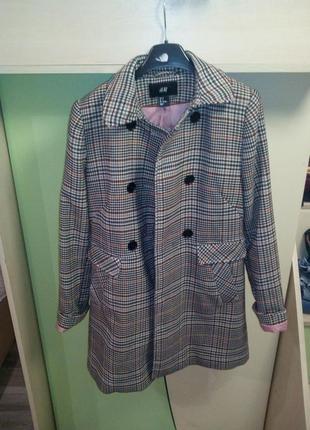 Утепленное модное пальто next