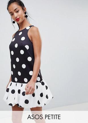 Неопреновое платье в горошек  asos, р-р 8