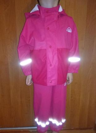 Непромокаемый комбинезон, курточка и штаны для дождя на 3-4 лет