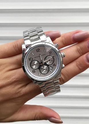 Часы серебро сталь мк