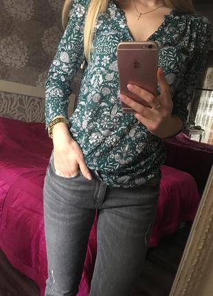 Блуза в етно-прінт, zara