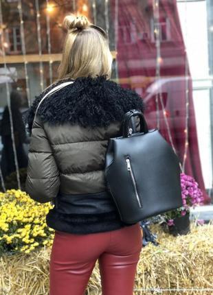 Молодежный рюкзак габи черного цвета