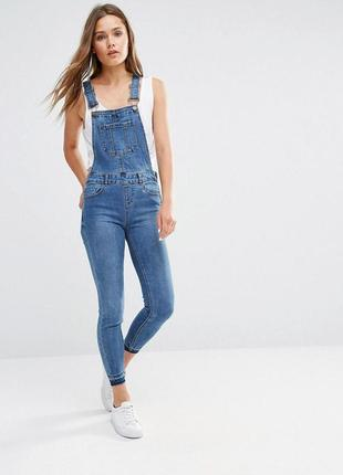 Крутой джинсовый комбинезон, джинсы скинни, зауженные штаны из эластичного денима