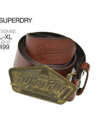 Superdry l-xl / кожаный ремень