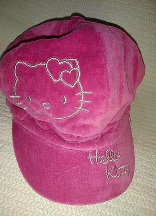 Зимняя кепка на флисе hello kitty .