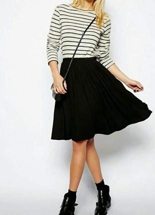 Стильная черная пышная юбка , размер xs s