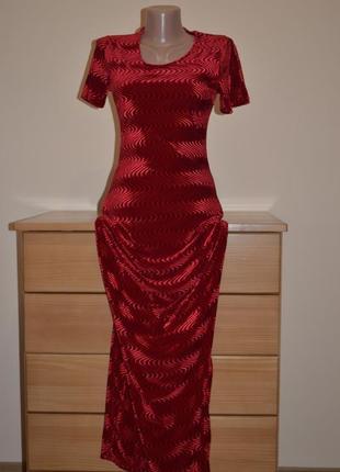 Распродажа до 70% ! 12-18.11.18 длинное бархатное платье по фигуре франция