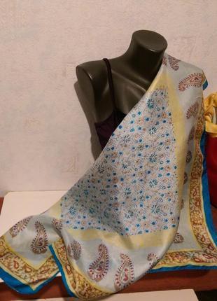 Натуральный шелк,чесуча,индия,платок,85*92