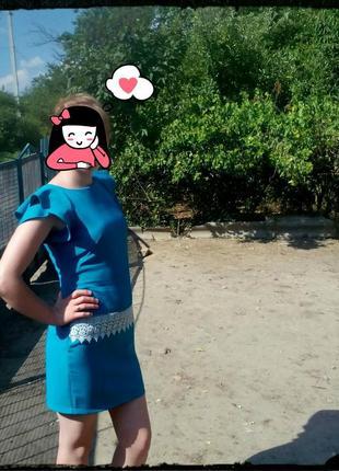 Платье березового цвета